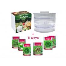 Аппарат для проращивания - проращиватель (спраутер) семян, злаков и бобовых ProVita + 6 упаковок семян SeedEra