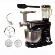 Кухонный комбайн RAINBERG RB 8080 тестомес 3 в 1: мясорубка, блендер, тестомес 2200 Вт, Черный