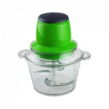 Кухонный электрический блендер измельчитель овощерезка Vegetable Mixer Grant Pro 300 W с двухъярусным лезвием 1,8 л Зеленый