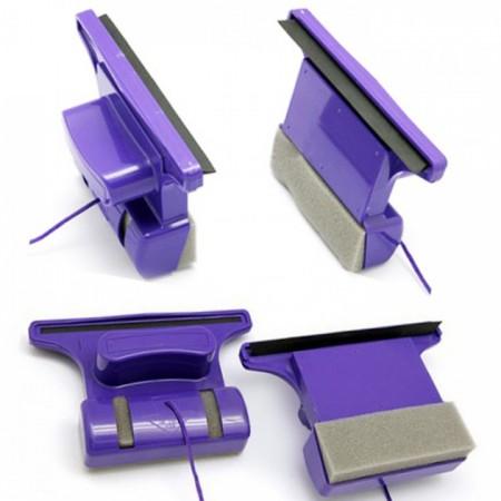 Магнитная щетка для двухстороннего мытья окон Window Wizard New Version Фиолетовая