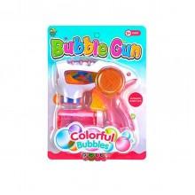 Пистолет с подсветкой, пускающий пузыри InTrend Toys Розовый
