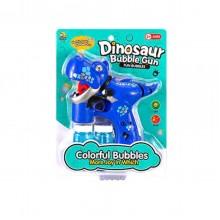 Музыкальный пистолет, пускающий пузыри Динозавр InTrend Toys Синий