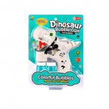 Музыкальный пистолет, пускающий пузыри Динозавр InTrend Toys Белый