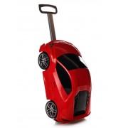 Детский прогулочный и школьный рюкзак-чемодан, ранец в виде машины RIDAZ Lamborghini Huracan Красный