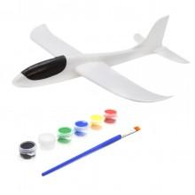 Ручной самолет планер метательный Sky Plane Original с красками от InTrend Toys 48 см Белый