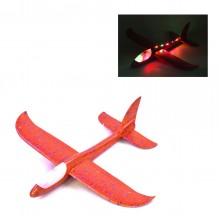 Ручной самолет планер метательный Sky Plane Original со светящейся кабиной от InTrend Toys 48 см Красный