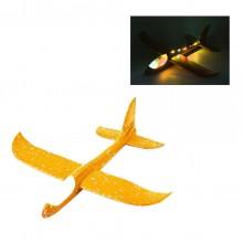 Ручной самолет планер метательный Sky Plane Original со светящейся кабиной от InTrend Toys 48 см Оранжевый