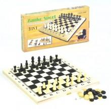 Игровой набор 3 в 1 Шашки, Шахматы и Нарды InTrend Toys Дерево (103020)