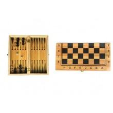 Игровой набор 2 в 1 Шахматы и Нарды JT Toys на деревянной доске (50279)