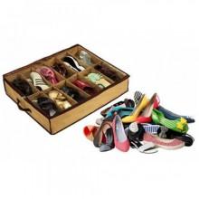 Органайзер для хранения обуви на 12 пар InTrend Shoes Under с прозрачной крышкой Бежевый