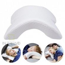 Подушка ТУНЕЛЬ с памятью ортопедическая Memory Foam Pillow гипоаллергенна подушка мемори Белая