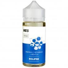 Премиум жидкость для электронных сигарет WES Eclipse 100 мл 3 мг ( жвачка с черникой и ментолом )