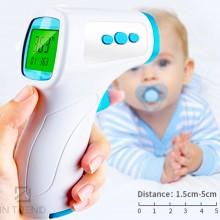 Бесконтактный инфракрасный Термометр  NON-CONTACT THERMOMETER - электронный Градусник с температурой для детей - хороший Дистанционный  цифровой Измеритель Температуры Тела / воды / молока - детский медицинский с дисплеем для измерения