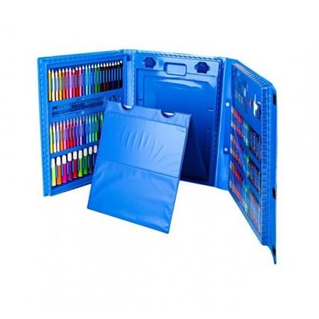 Набор для рисования и творчества в чемоданчике с мольбертом The Best Gift for Kids 176 предметов Синий