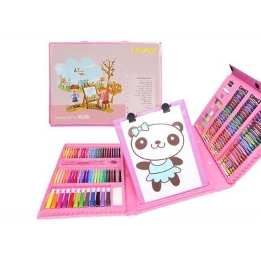 Набор для рисования и творчества в чемоданчике с мольбертом The Best Gift for Kids 176 предметов Розовый