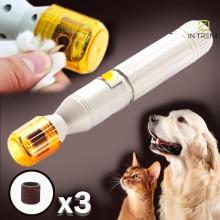 Триммер для когтей  Pedi Paws - фрезер для ухода за лапами кошек собак – точилка когтей домашных животных – когтерезка с 3 насадками на батарейках – удобный и безопасный прибор  - не оставляет заусенцев и расщепления