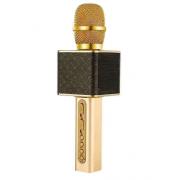 Беспроводной портативный микрофон для караоке и Bluetooth колонка с мембраной низких частот 2 в 1 Magic Karaoke YS-10А с возможностью подключения двух микрофонов к одному телефону, Черный