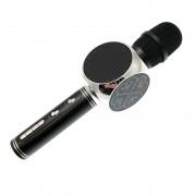 Беспроводной портативный микрофон для караоке и Bluetooth колонка с мембраной низких частот 2 в 1 Magic Karaoke YS-63 со сменой голоса (мужской, женский, детский) Black/Silver