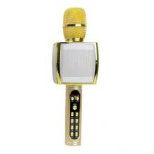 Беспроводной портативный микрофон для караоке и Bluetooth колонка 2 в 1 Magic Karaoke YS-91 со сменой голоса (от высокого до низкого) и кнопкой с аплодисментами, Gold