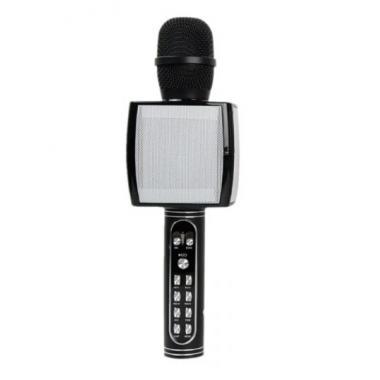 Беспроводной портативный микрофон для караоке и Bluetooth колонка с мембраной низких частот 2 в 1 Magic Karaoke YS-91 со сменой голоса (от высокого до низкого) и кнопкой с аплодисментами, Black