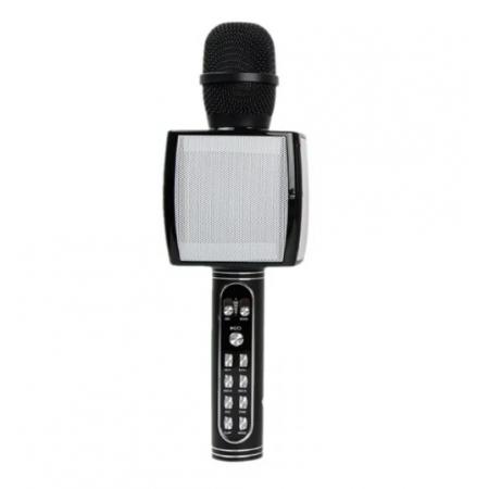 Беспроводной портативный микрофон для караоке и Bluetooth колонка 2 в 1 Magic Karaoke YS-91 со сменой голоса (от высокого до низкого) и кнопкой с аплодисментами, Black