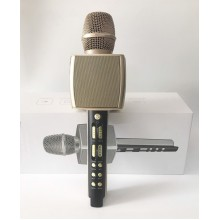 Беспроводной портативный караоке микрофон и Bluetooth колонка 2 в 1 Magic Karaoke YS-92 со сменой голоса и аплодисментами, Gold