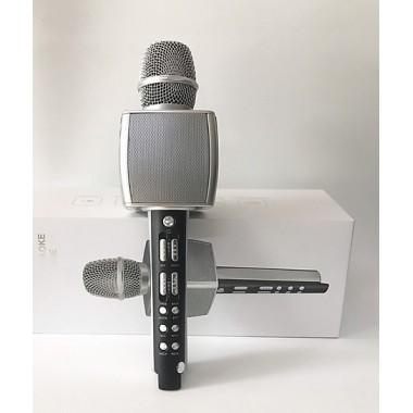 Беспроводной портативный караоке микрофон и Bluetooth колонка 2 в 1 Magic Karaoke YS-92 со сменой голоса и аплодисментами, Silver
